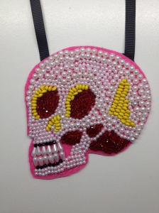 4.red & yellow skull
