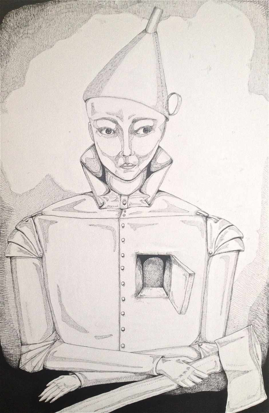 Tin man self portrait